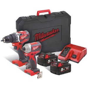 Milwaukee M18CBLPP2B-502C M18 Set