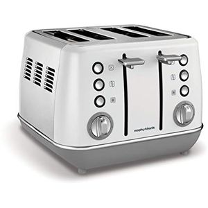 Morphy Richards Evoke 4 Slice Toaster 240109 White Four Slice Toaster White Toaster