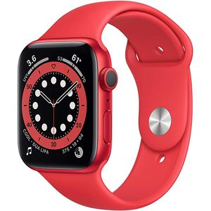 Apple Watch Series 6 Smartwatch GPS, 44mm, Aluminiumgehäuse PRODUCT(RED), Sportarmband PRODUCT(RED)