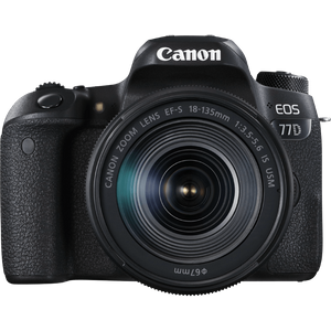 Canon EOS 77D Kit schwarz inkl. EF-S 18-135mm IS USM