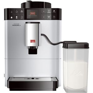 Melitta Caffeo Passione OT F531-101, Kaffeevollautomat mit Milchsystem, One Touch Funktion, Silber