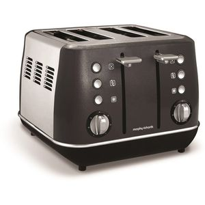Morphy Richards Evoke 4 Slice Toaster 240105 Black Four Slice Toaster Black Toaster