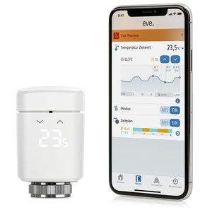 Eve Thermo, smartes Heizkörperthermostat, Bluetooth, weiß