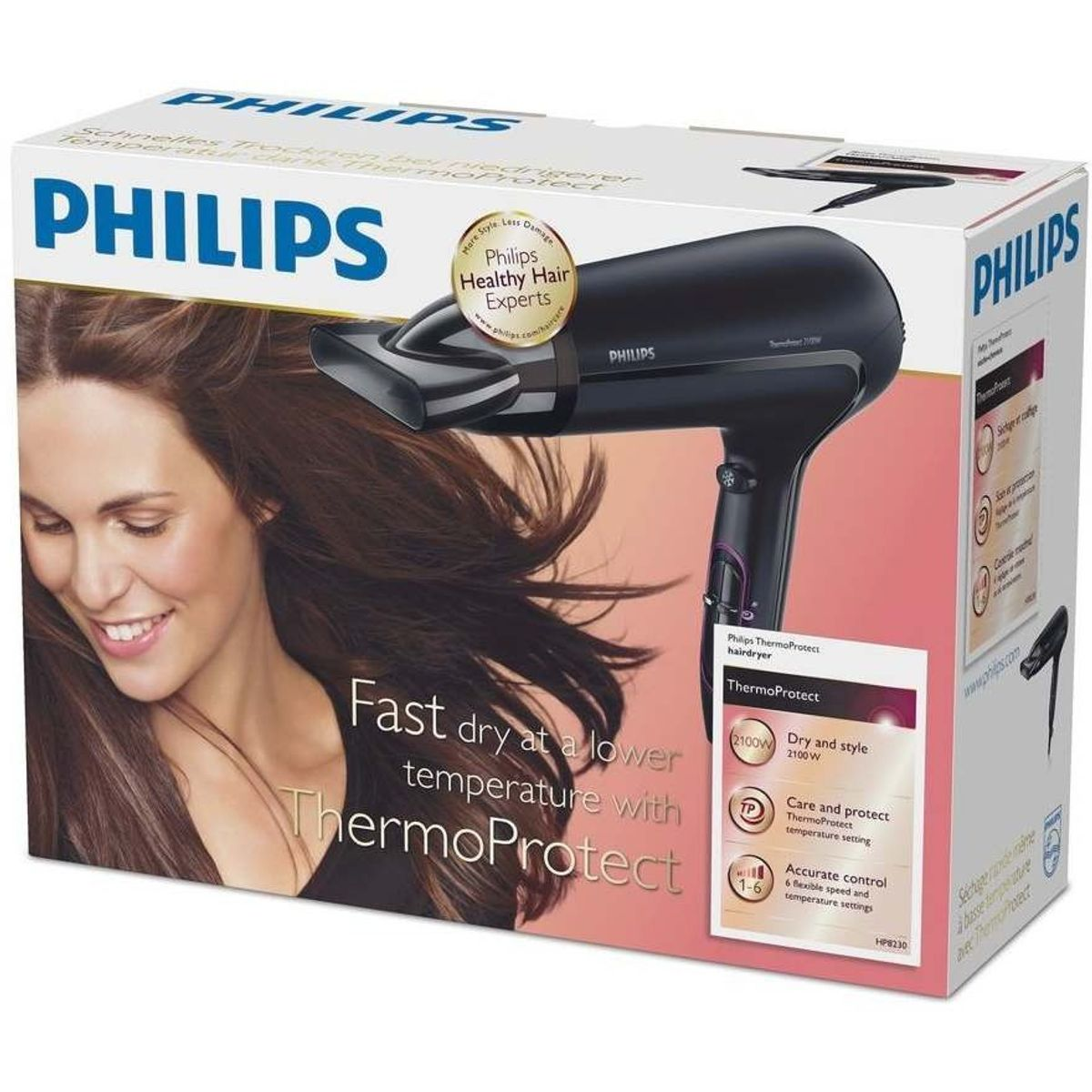Philips DryCare Advanced Haartrockner mit ThermoProtect Technologie HP8230-00