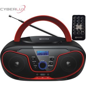 Ecosa CD-Player Boombox Stereoanlage