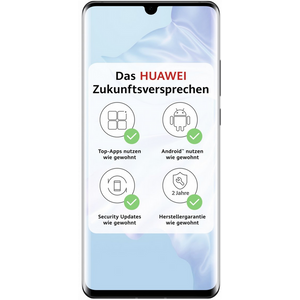 Huawei P30 Pro Smartphone 16,43cm (6,47 Zoll) OLED-Display, 128GB interner Speicher, 8GB RAM, Dual-SIM, Android, Black
