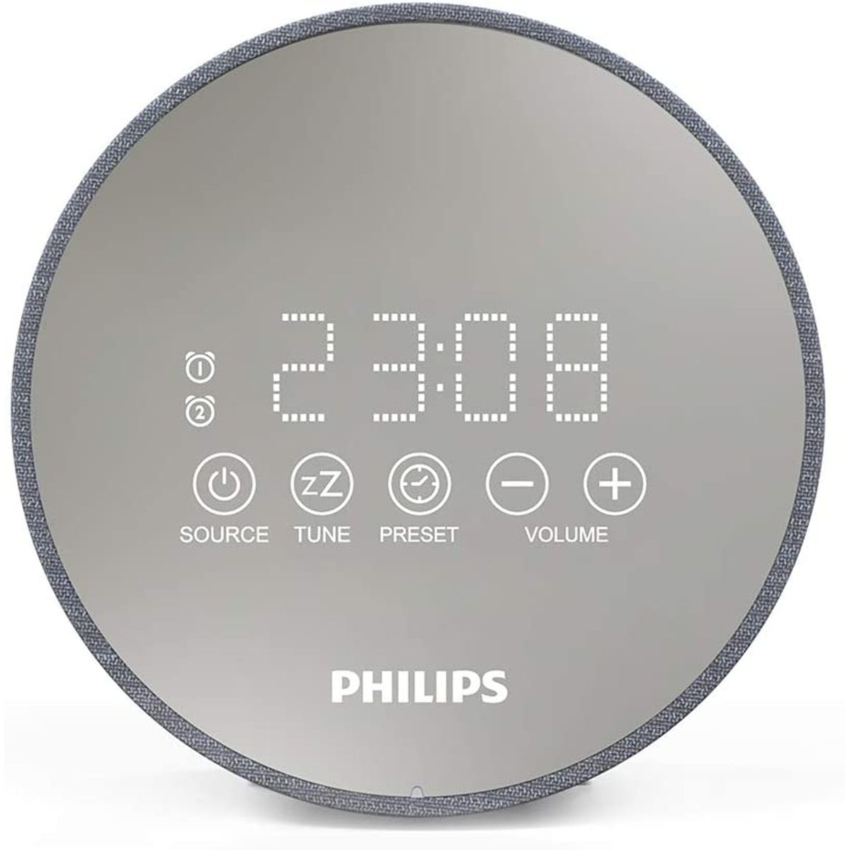 Philips Audio Radiowecker DR402-12 Digitaler Radiowecker (Sleep Timer, USB Ladefunktion, 2 Weckfunktionen)