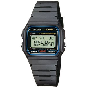 Casio Collection Kinderuhr Digital Armbanduhr F-91W-1YEG