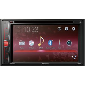 Pioneer AVH-A210BT 2DIN Autoradio, 6,2 Zoll Touchscreen, Bluetooth, Freisprecheinrichtung, Media-Receiver für Audio Video CD DVD USB, 115 Farben VarioColor