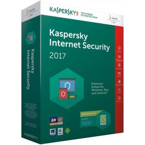 Kaspersky Internet Security 2017 | 1 Gerät + 1 Android Gerät | 1 Jahr | PC-Mac-Android | Download