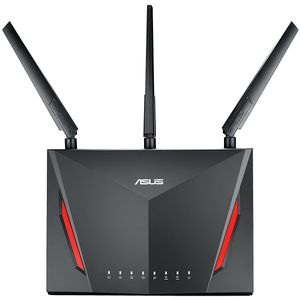 Asus RT-AC86UHome OfficeRouter (Ai Mesh WLAN System, WiFi 5 AC2900, Gaming Engine, Gigabit LAN, App Steuerung, AiProtection, USB 3.0, VPN, PPTP, OpenVPN)