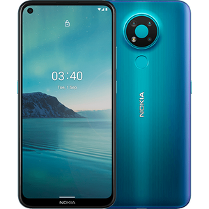 Nokia 3.4 Smartphone 16,23cm (6,39 Zoll) IPS-Display, 64GB interner Speicher, 3GB RAM, Android, Fjord