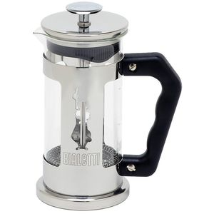 Bialetti 3160 Preziosa 0,35 Liter, French Press, Glas, ergonomischer Griff