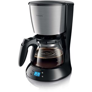 Philips HD7459-20 Daily Filter-Kaffeemaschine, Timer, schwarz-metall