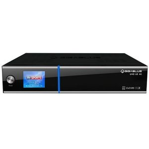GigaBlue UE UHD 4K 2x DVB-S2 FBC / 1x DVB-C/T2 Dual Tuner E2 Linux Receiver 1TB HDD
