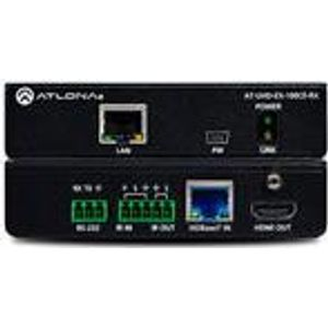 Atlona AT-UHD-EX-100CE-RX 4K HDMI/HDBaseT receiver with Ethernet pass through and PoE 100 metres. Max. extension distance: 100 m 4k hdbt receiver 100m poe/co+ip (AT-UHD-EX-100CE-RX)