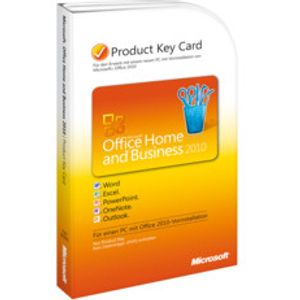 Microsoft Office 2010 Home & Business, PKC, englisch (PC)