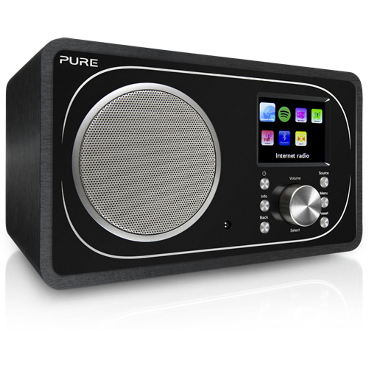 Pure Evoke F3 Digitalradio (DAB+, DAB, UKW, WLAN, Bluetooth, Internetradio, Spotify Connect, App, Sleep-Timer, Weckfunktion, inkl. Fernbedienung, Streaming, 25000 Radiosender)