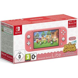 Nintendo Switch Lite Koralle 32GB inkl. Animal Crossing: New Horizons