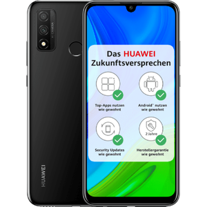 Huawei P smart 2020 Smartphone 15,77cm (6,21 Zoll) TFT LCD-Display, 128GB interner Speicher, 4GB RAM, Dual-SIM, Android, Midnight Black