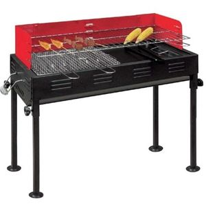 BURI Holzkohlegrill Barbecue Grill Set, 75 x 66 x 30 cm