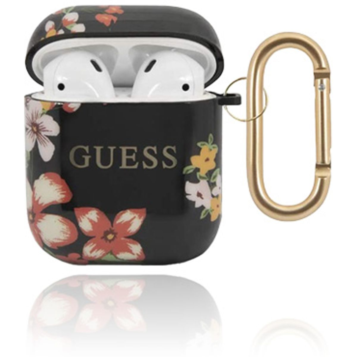 GUESS Cover Silicone Floral Black