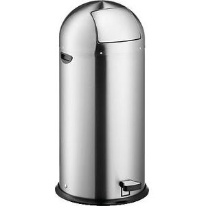 Helit H2405400 - Push-Tretabfallbehälter ''the step dome'' 52L, Edelstahl