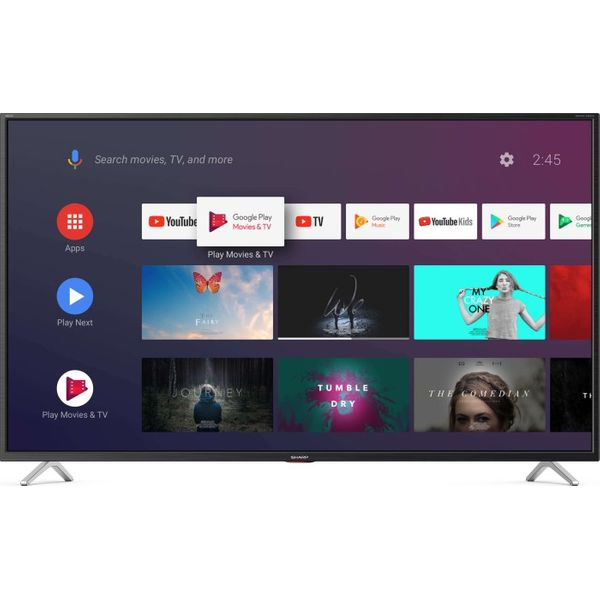 Sharp 43BL5EA 108 cm (43 Zoll) LCD-Technologie (Ultra HD, HDR) HD-Triple-Tuner (Sat, Antenne, Kabel) Smart TV Energieklasse G
