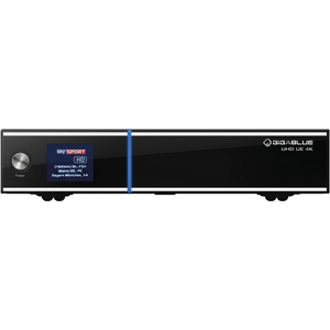 Gigablue UE UHD 4K 1x DVB-C FBC Twin 1x DVB-S2x Dual Tuner E2 Linux Receiver 2TB HDD