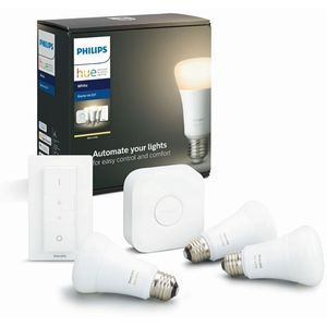 Philips Hue White 3xE27 Bulbr + Switch Starter Kit - BT, 929001821604 (Starter Kit - BT)