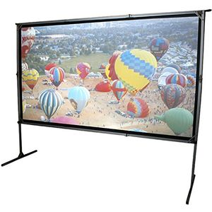 Elite Screens OMS120H2-DUAL Mobile Garten Leinwand Yard Master 2 Dual 266 Outdoor Projection Screen schwarz