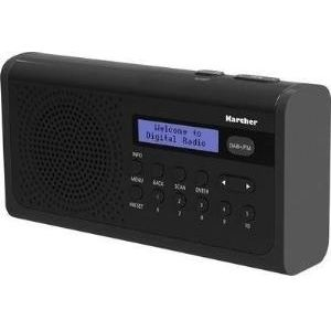 Karcher DAB 2405 tragbares Digitalradio (DAB+ - UKW Radio, Wecker, LCD-Display, Netz-Batteriebetrieb) schwarz