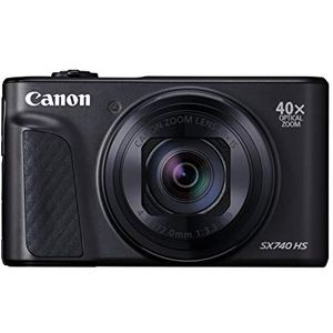Canon PowerShot SX740 HS Digitalkamera (20,3 MP, 40-fach optischer Zoom, 7,5cm (3 Zoll) Display, DIGIC 8, 4K Ultra HD, HDMI, WLAN, Bluetooth, Blendenautomatik, Zeitautomatik) schwarz