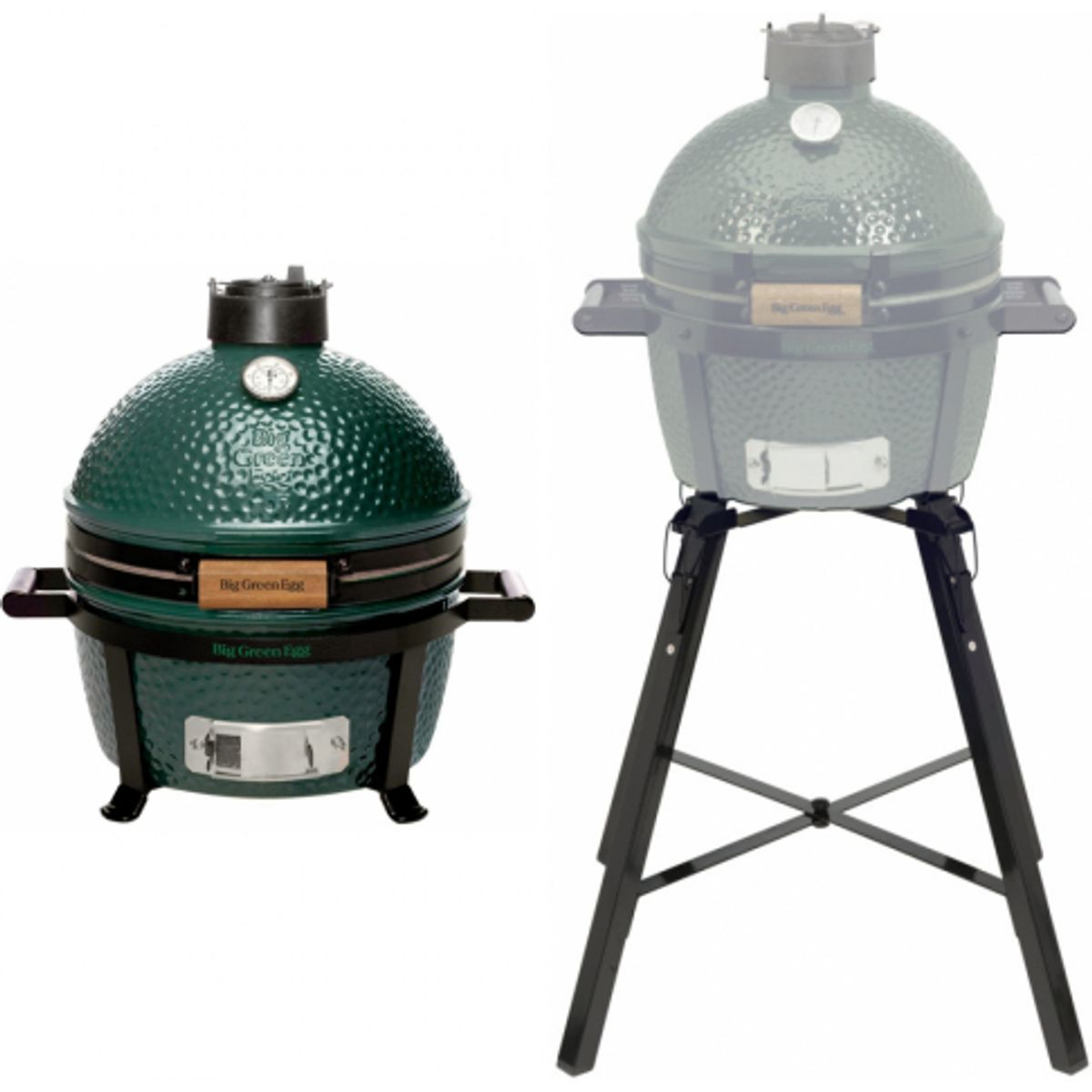 Big Green Egg Holzkohlegrill MiniMax inkl. Portable Nest