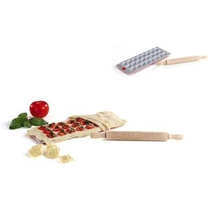 KitchenArtist Ravioli-Backform Ravioli Teigwaren Teigrolle MEN283
