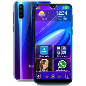 Beafon M6 Senioren-Smartphone 15,9cm (6,26 Zoll) IPS-Display, 32GB interner Speicher, 2GB RAM, Android, Blau