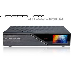 Dreambox DM920 UHD 4K 1x DVB-S2X MS Dual / 1x DVB-C FBC Tuner E2 Linux 4 TB HDD Receiver