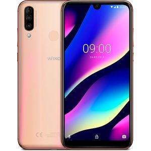 Wiko View 3 Smartphone 15,9cm (6,26 Zoll) Display, 64GB interner Speicher, 3GB RAM, Dual-SIM, Android, Gold