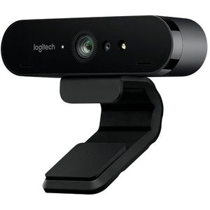 Logitech Brio ULTRA-HD PRO Webcam, 4K HD 1080p, 5-fach Zoom, Hohe Bildfrequenz, HDR und RightLight 3, USB-Anschluss, Gesichtserkennung mit Windows Hello, Für Skype, Zoom, Cisco., PC/Mac - Schwarz (960-001106)