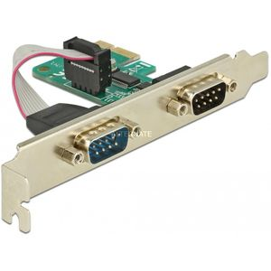 DeLock PCIe Karte Seriell RS-232 Adapter