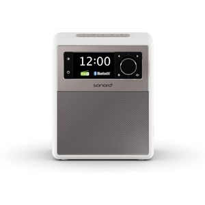 Sonoro EASY Tragbares Radio mit Bluetooth, Beleuchtung, LCD-Display, weiß