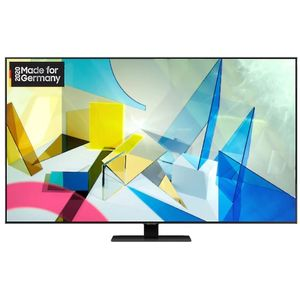Samsung GQ75Q80T 190 cm (75 Zoll) QLED-Technologie (Ultra HD, HDR) HD-Triple-Tuner (Sat, Antenne, Kabel) Smart TV Modelljahr 2020 Energieklasse A (Deutsche Version)