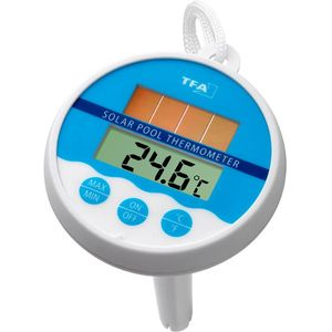 TFA Dostmann Schwimmbad-Thermometer Poolthermometer Digital Solar TFA 30.1041