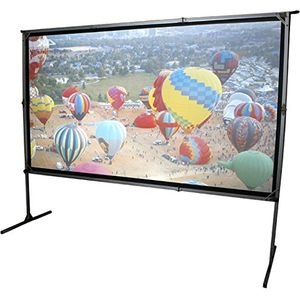 Elite Screens OMS135H2-DUAL Mobile Garten Leinwand Yard Master 2 Dual 299 Outdoor Projection Screen schwarz