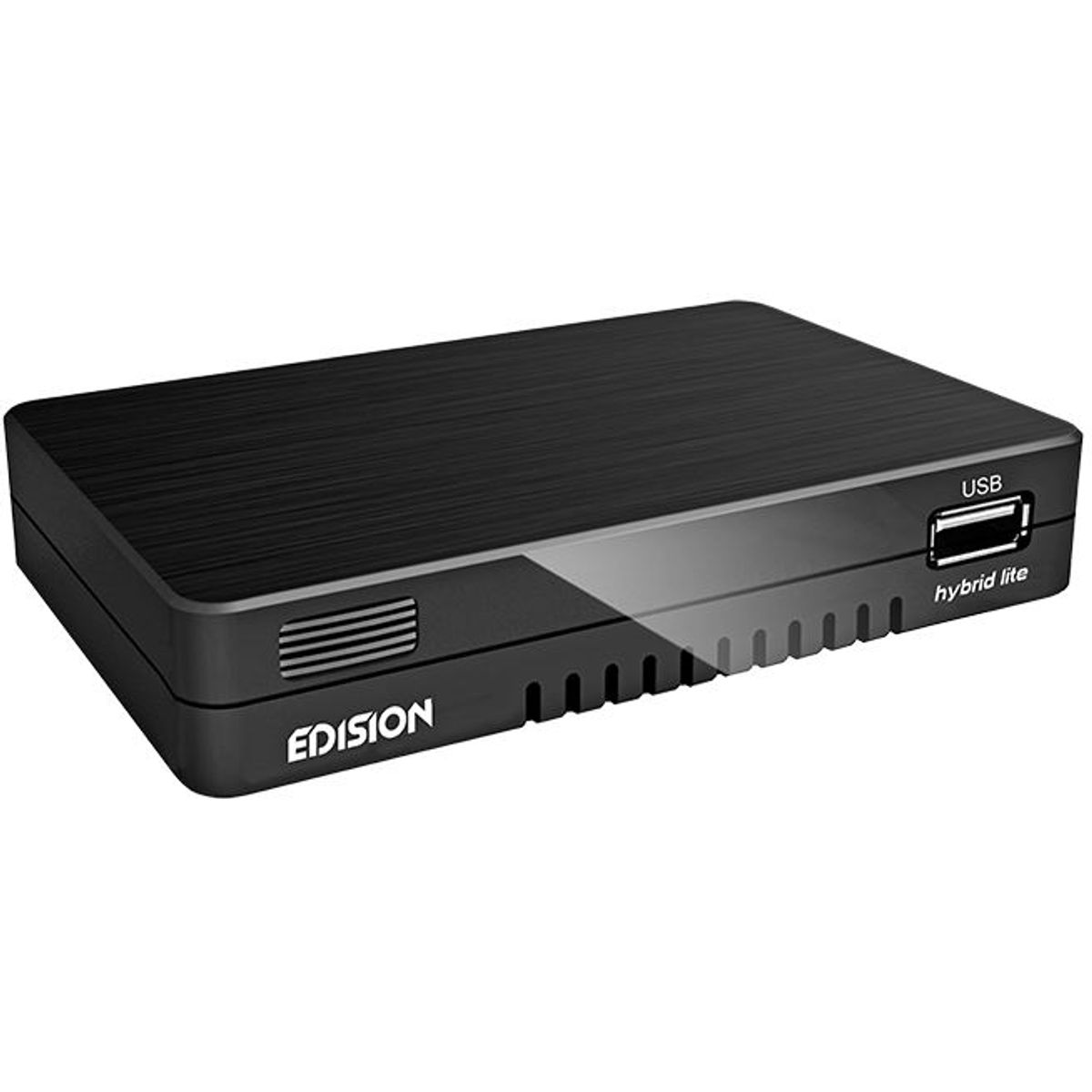 Edision progressiv hybrid lite DVB-C Kabelreceiver für digitales Kabel-Fernsehen (Full-HD, HDMI, USB 2.0, Mediaplayer, WLAN optional)