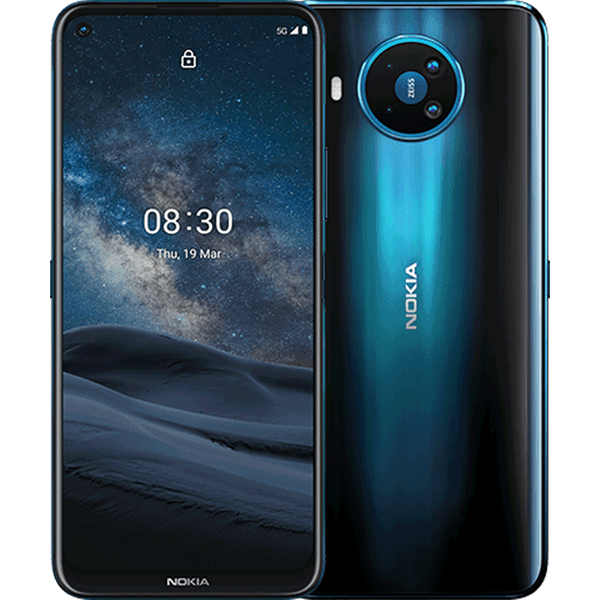 Nokia 8.3 5G Smartphone 17,3cm (6,81 Zoll) IPS-Display, 128GB interner Speicher, 8GB RAM, Dual-SIM, Android, Polarnight