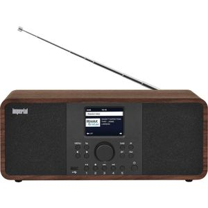 IMPERIAL DABMAN i205 Internetradio-DAB+ (Stereo Sound, UKW, WLAN, LAN, Bluetooth, Streamingdienste (Spotify, Napster UVM.) inkl Netzteil) braun