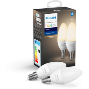 Philips Hue White E14 LED Lampe Doppelpack 2x 5,5 W Bluetooth