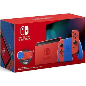 Nintendo Switch V2 Mario Red & Blue Edition 32GB inkl. Schutztasche