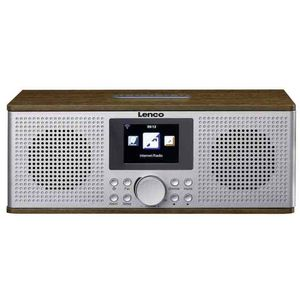 Lenco DIR-170 Digitalradio - Internetradio - WLAN Radio - UKW Radio - Bluetooth - TFT Display - Radiowecker (2 Weckzeiten) - AUX-Eingang - Line-Out und USB - 2x10 Watt (RMS) - Braun